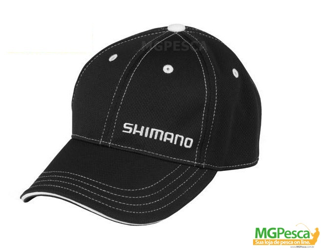 Boné Shimano AHAT120CBKSM A-FLEX (Flex-Fit) - Preto  - MGPesca