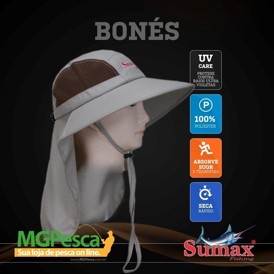 Chapéu Sumax com proteção UV e protetor de ombros - SB-1306  - MGPesca