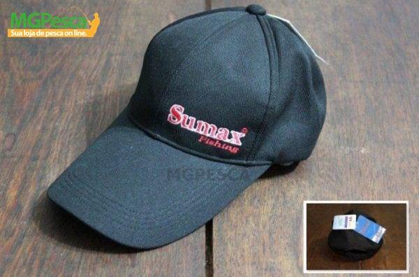 Boné Sumax SB-1301 com proteção UV - Preto  - MGPesca