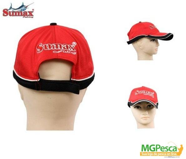 Boné Sumax SC-001R - Vermelho  - MGPesca