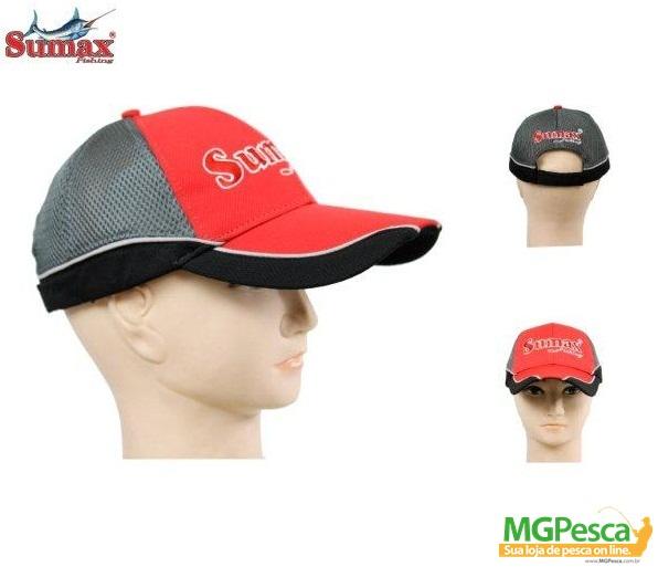 Boné Sumax SC-002R - Vermelho  - MGPesca
