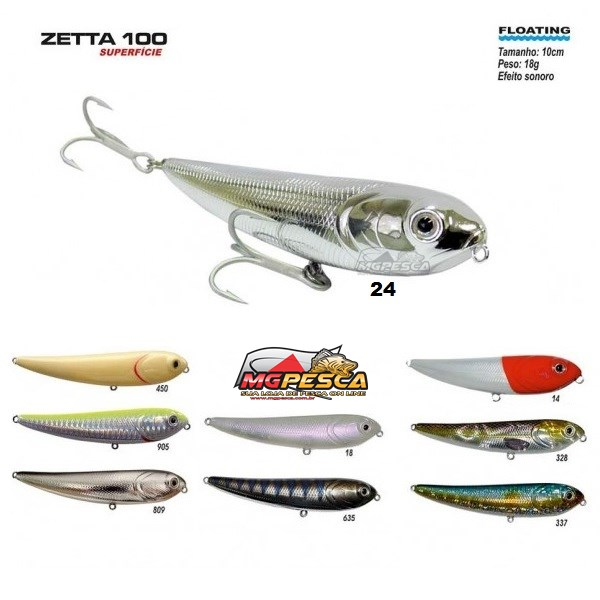 Isca Artificial Marine Sports Zetta 100  - MGPesca