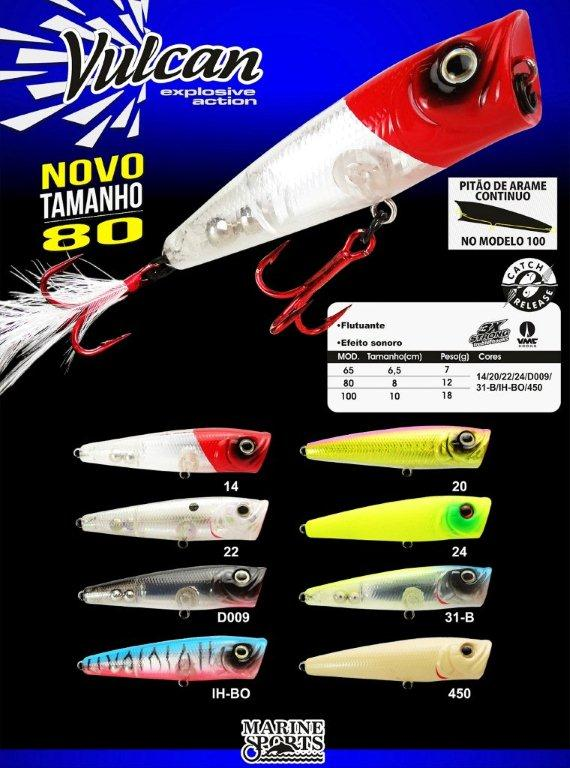 Isca Artificial Marine Sports Vulcan 80  - MGPesca