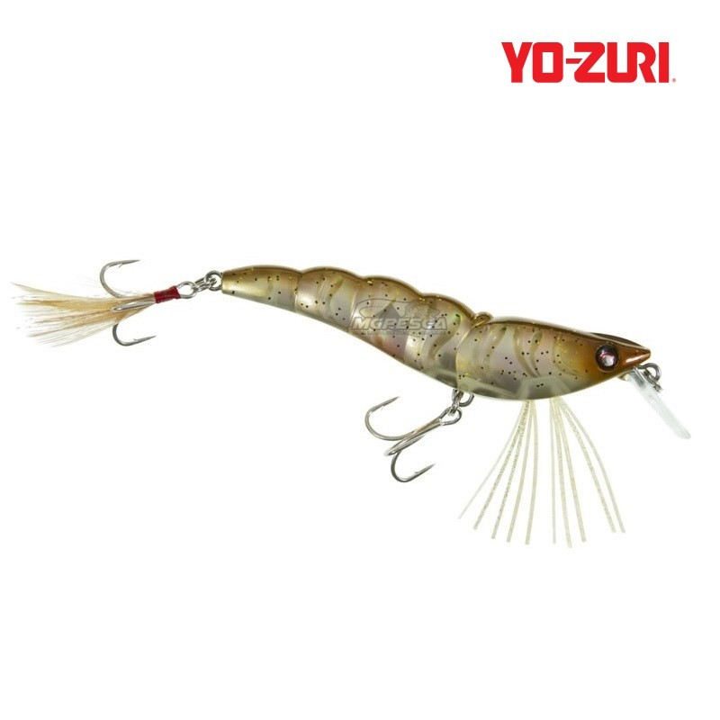 Isca Artificial Yo-Zuri Crystal 3D Shrimp (SS) 90 - R1162  - MGPesca