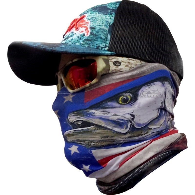 5b34dfa52763c Máscara de Proteção Solar com Filtro UV Monster 3X - Série SPOT - MGPesca