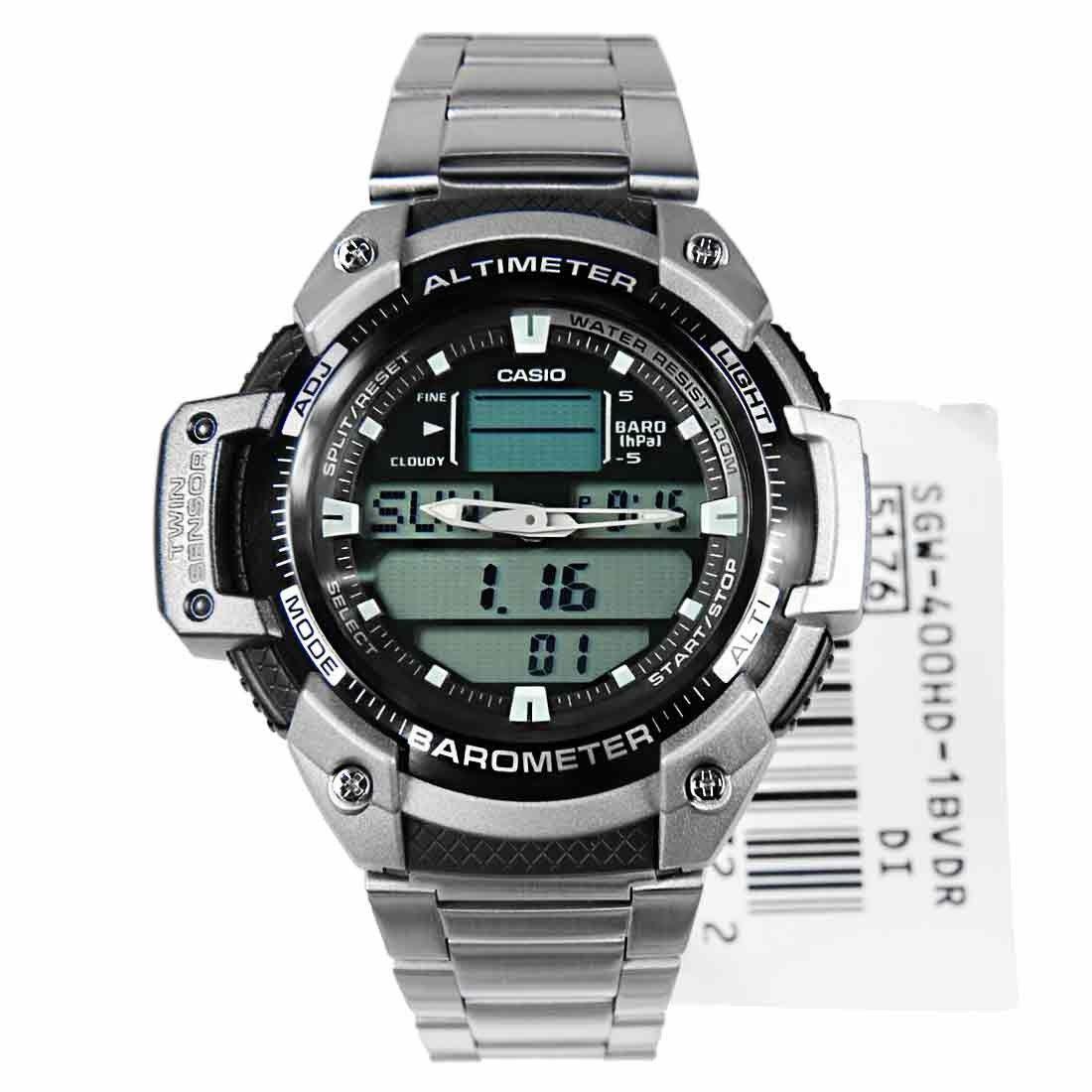 Relógio Casio Out Gear SGW-400HD - Altímetro e Barômetro  - MGPesca