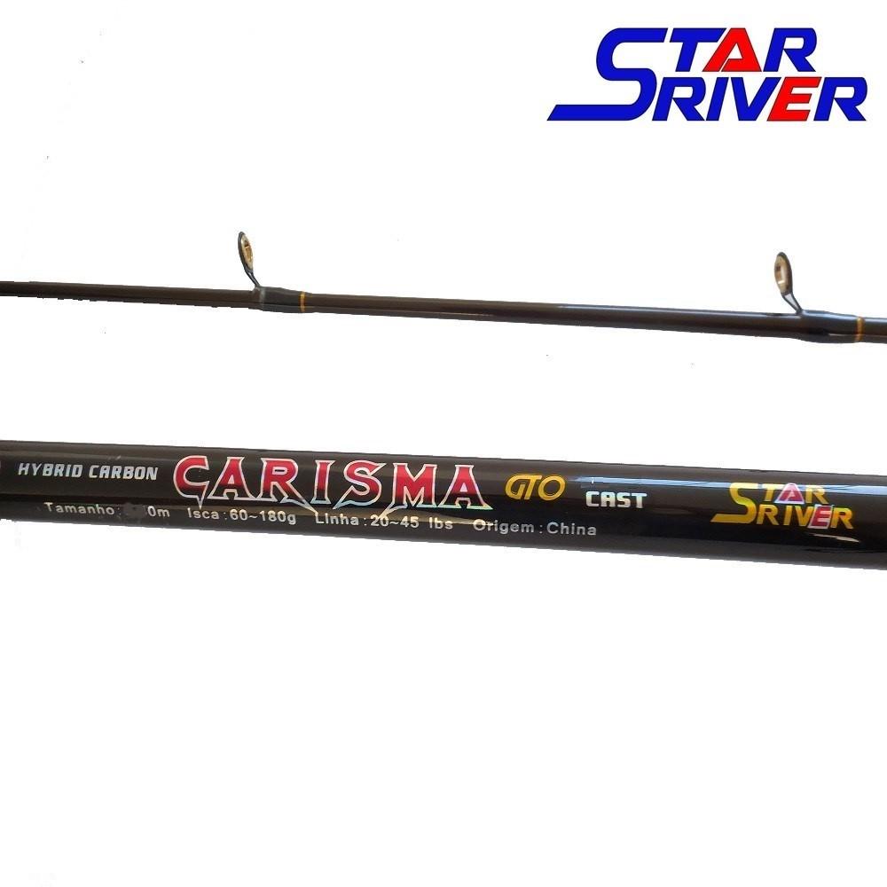 "Vara para carretilha Star River Carisma GTO 9"" (2,70m) 45 Lbs 270 Cast - 02 Partes  - MGPesca"