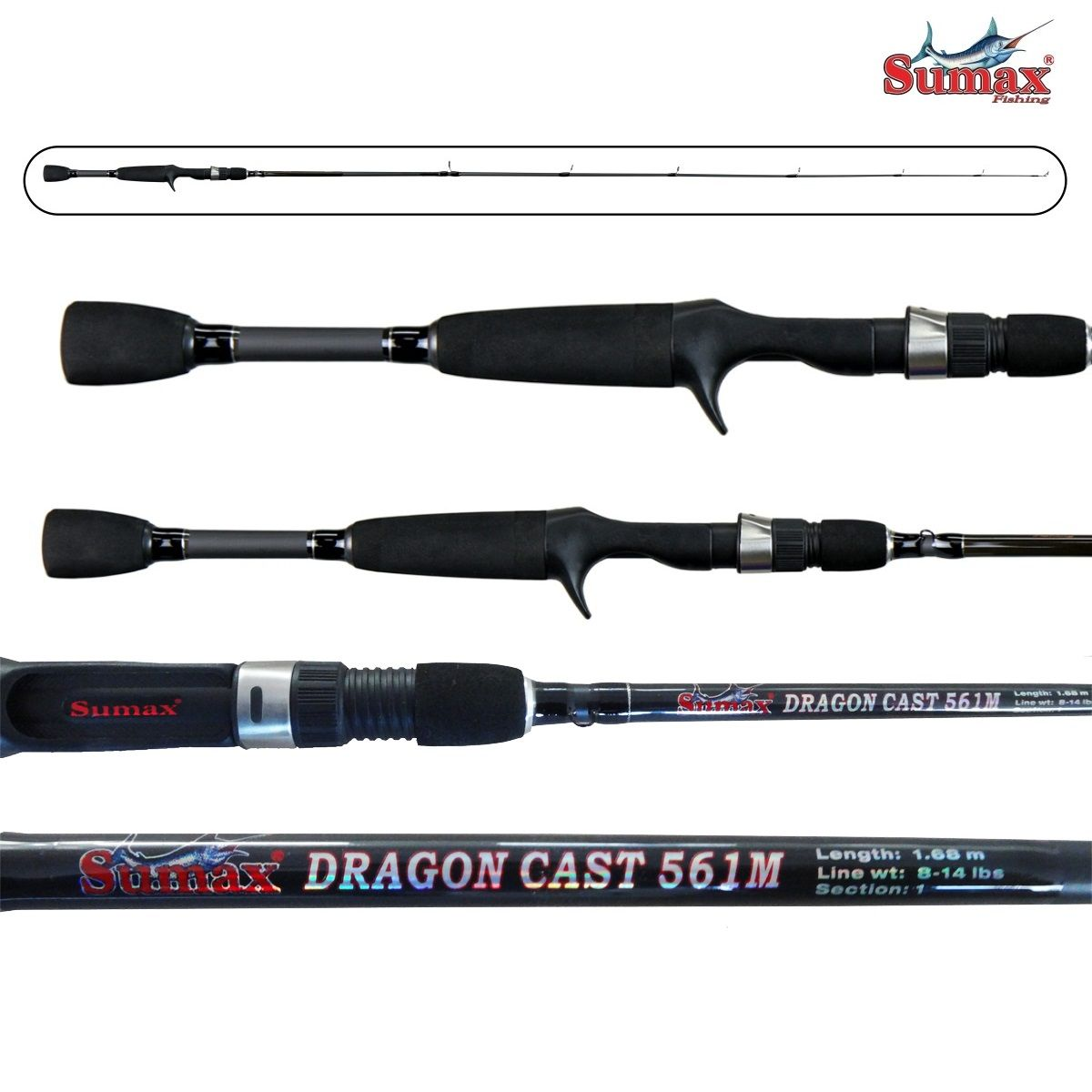Vara para carretilha Sumax Dragon Cast 5
