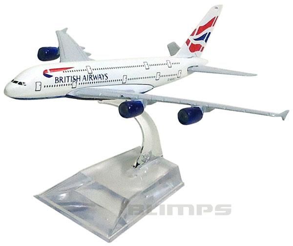 Miniatura Airbus A380-800 British Airways - 16 cm  - BLIMPS COMÉRCIO ELETRÔNICO