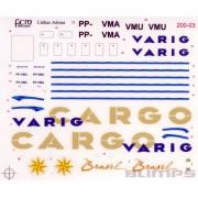 Decalque Douglas DC-10-30 Varig e DC-10-30F Varig Cargo 1/200 - FCM 200-03