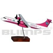 Maquete ATR 72-600 Azul - pintura rosa - 25 cm
