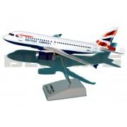 Maquete Airbus A319 British Airways - 19 cm