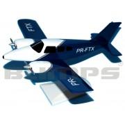 Maquete Piper PA-34-200 Seneca PR-FTX - 22 cm