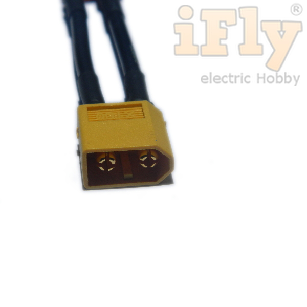 Conversor Macho XT-60 para Fêmea Deans (T) 14AWG  - iFly Electric Hobby