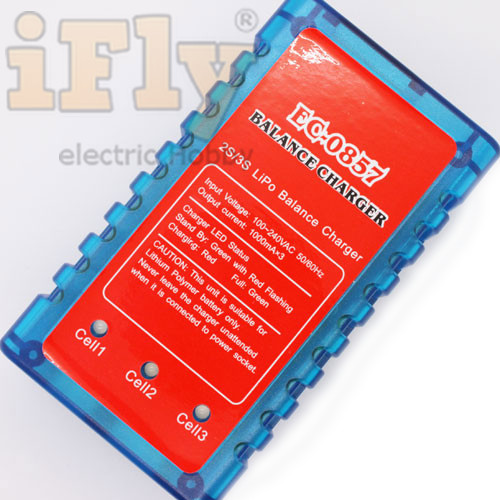 Carregador e Balanceador EMAX EC0857 2 a 3S - Lipo e Li-ion  - iFly Electric Hobby