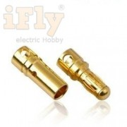 Conector Plug Gold Bullet Banana 3.5 Mm - 03 Pares