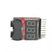 Alarme de Bateria Fraca Ajustável 2.8 a 3,7 Volts - 2 A 8s