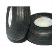 Roda 50mm de Poliuretano (par) para Aeromodelos