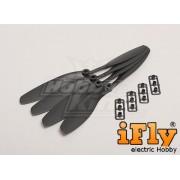 Hélice Slow Flyer 8x45R com Adaptadores