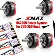 Combo EMAX Motor Rs2205 S 2600 Kv + ESC Bullet BlHeli_S 30A Drone Race