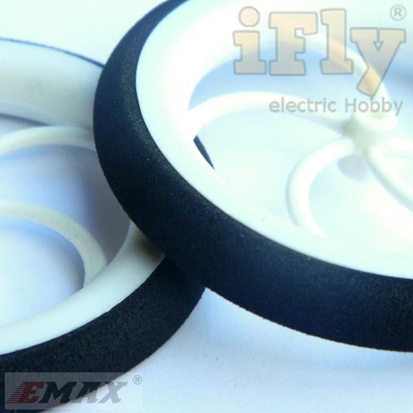 Roda 60x8mm (par) para Aeromodelos Elétricos  - iFly Electric Hobby