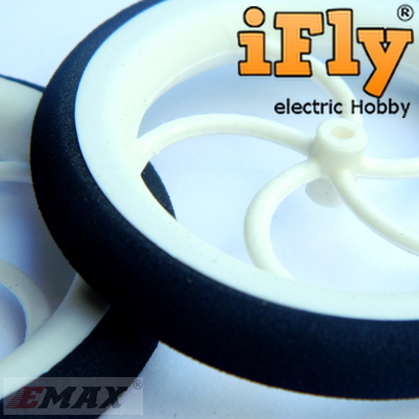 Roda 65x8mm (par) Para Aeromodelos Elétricos  - iFly Electric Hobby