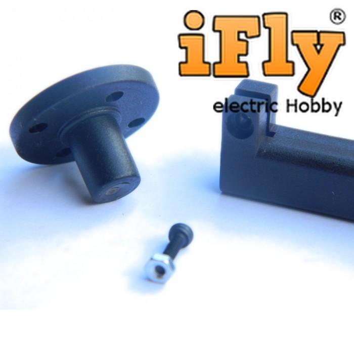 Montante para Motor Brushless em Nylon 24mm  - iFly Electric Hobby