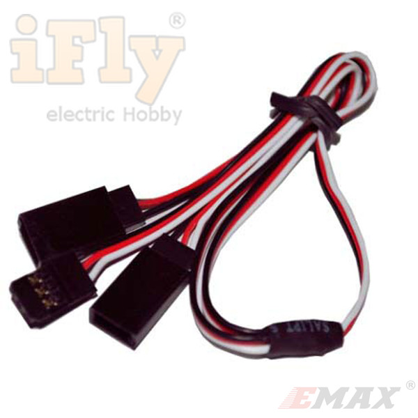 Cabo Extensor Y EMAX para Servos 15cm / 22 AWG padrão Futaba  - iFly Electric Hobby