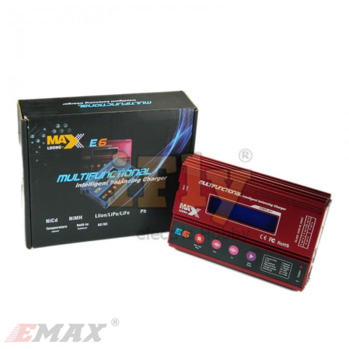 Carregador e Balanceador EMAX Loong Max E6 50W 6A  - iFly Electric Hobby