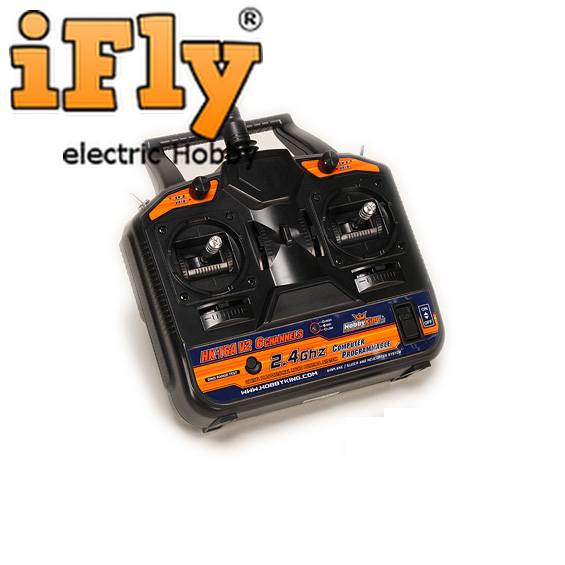 Radio Hobby King 6 Canais V2 2.4ghz com Receptor  - iFly Electric Hobby
