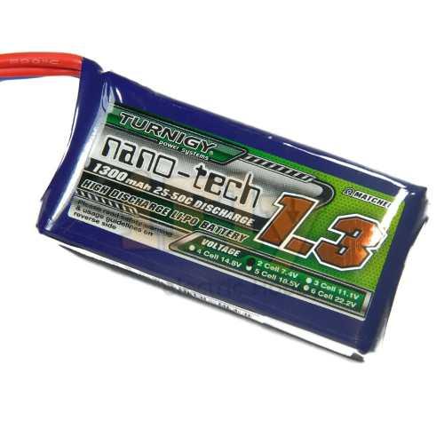 Bateria Lipo Turnigy Nano-tech 1300mah 2S 7.4v / 25-50c  - iFly Electric Hobby