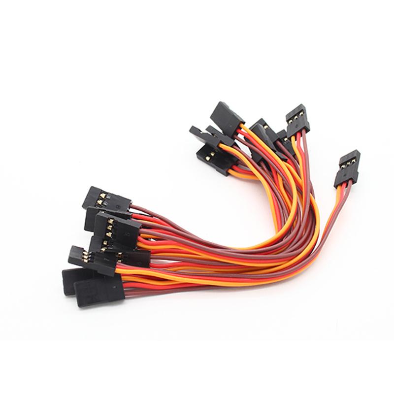 Conector Macho para Macho 10cm padrão JR e Futaba - 04 unid.  - iFly Electric Hobby