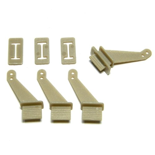 Zip Horn 22X9X10mm - 2 Furos - Com Trava (4 Unidades) - iFly Electric Hobby