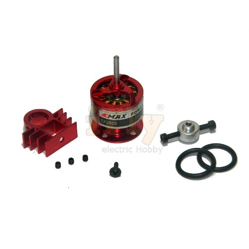 Motor Brushless EMAX CF2822 com Dissipador e Salva Hélice  - iFly Electric Hobby