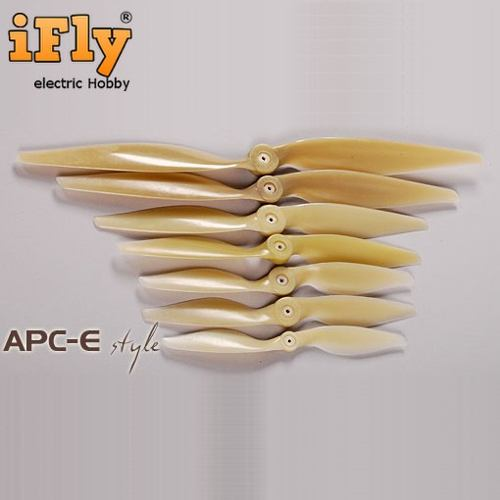 Hélice Estilo APC 7x6E com Adaptadores - unidade  - iFly Electric Hobby