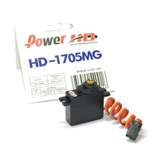 Servo Power HD-1705MG 17g  Metal Gear 2.0kg de Torque  - iFly Electric Hobby