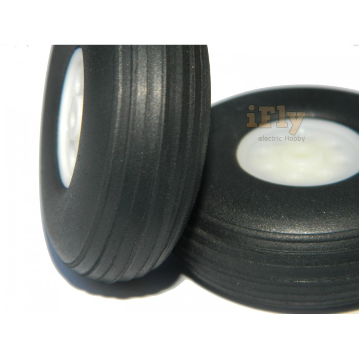 Roda 50mm de Poliuretano (par) para Aeromodelos  - iFly Electric Hobby