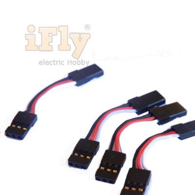 Conector Macho para Macho 3cm Padrão JR 22AWG - 04 unid.   - iFly Electric Hobby
