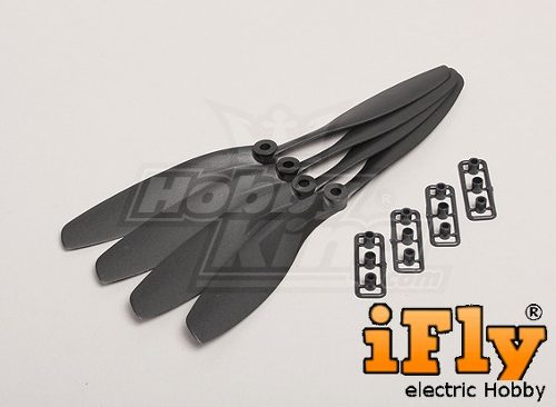Hélice Slow Flyer 8x45R com Adaptadores  - iFly Electric Hobby