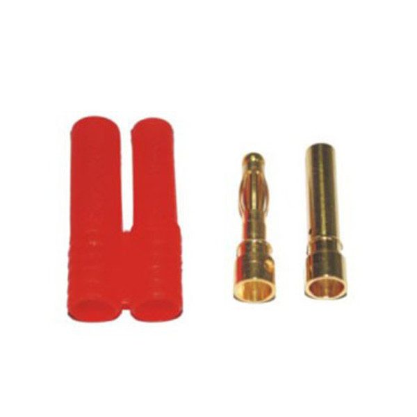 Plug Conector Bullet 4mm com capa  - iFly Electric Hobby