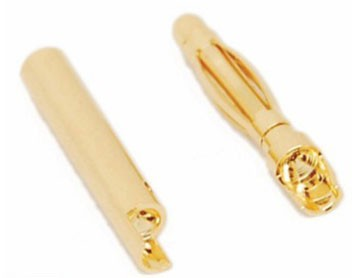 Conector Plug Gold Bullet Banana 2mm - 03 Pares  - iFly Electric Hobby