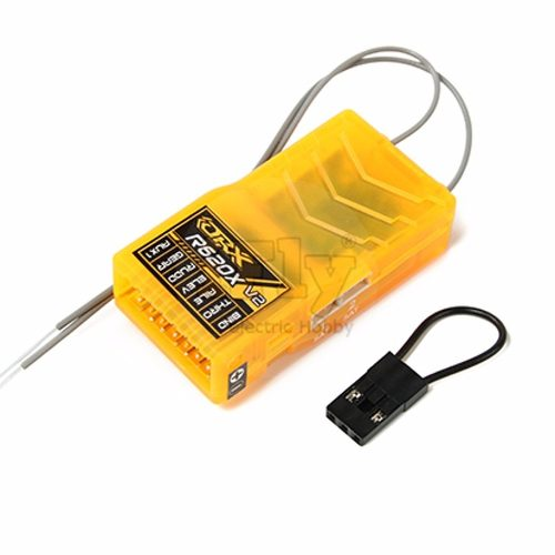 Receptor Orange R620X V2 2.4ghz Dsm2 06 Ch Cppm Full Range  - iFly Electric Hobby