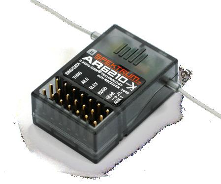 Receptor SpekTrum AR6210 DSMX  - iFly Electric Hobby