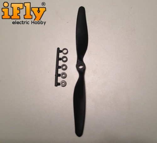 Hélice Slow Fly 7x5 com Adaptadores - 5 unidades  - iFly Electric Hobby