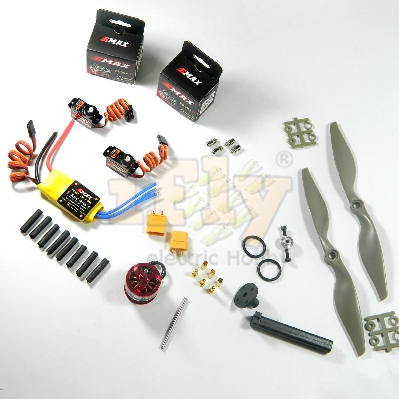 Combo CF2812 100% EMAX para Zagi - Completo  - iFly Electric Hobby