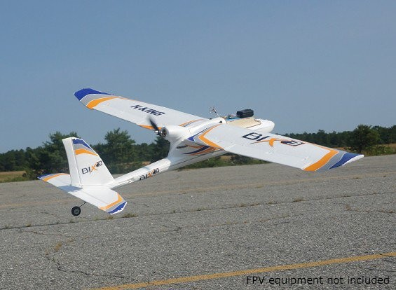 Aeromodelo BIX3 Hobby King para FPV 1550mm em EPO  - iFly Electric Hobby