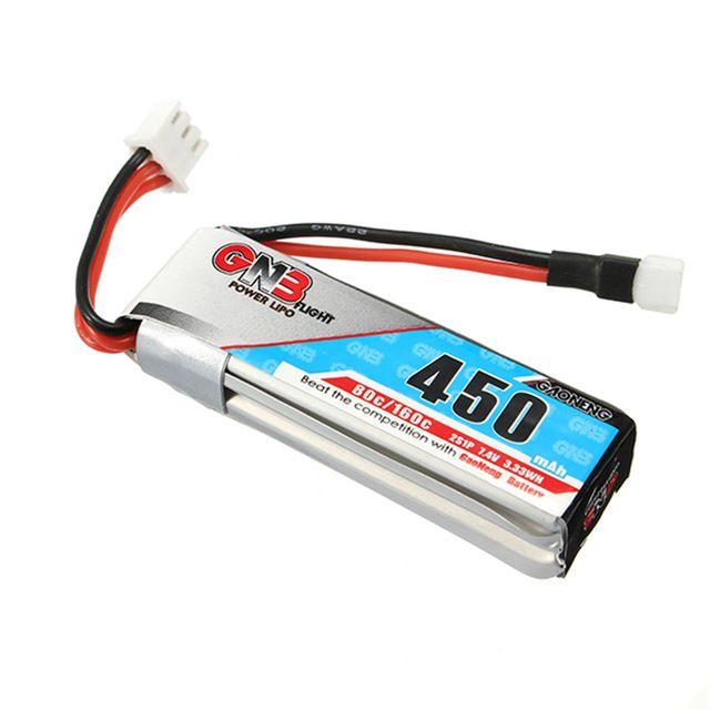 Bateria Lipo Gaoneng (GNB) 2s 7.4v 450mah 80˜160c apenas 29g  - iFly Electric Hobby