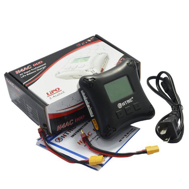 Carregador e Balanceador HTRC H4AC DUO 20W para Lipo 2 a 4S  - iFly Electric Hobby
