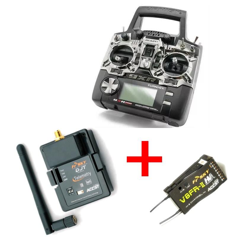Pacote Rádio 9XR Pro + Módulo DJT + Receptor V8FR-II  - iFly Electric Hobby