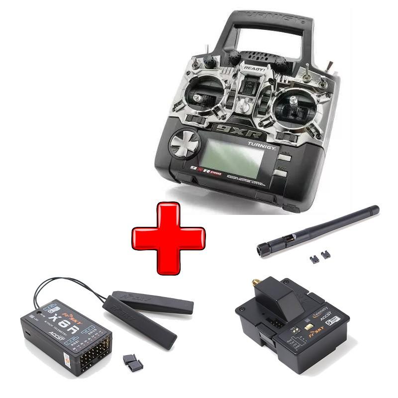 Pacote Rádio 9XR Pro + Módulo XJT + Receptor X8R  - iFly Electric Hobby